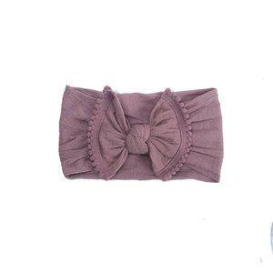Purple Pom Pom Headband
